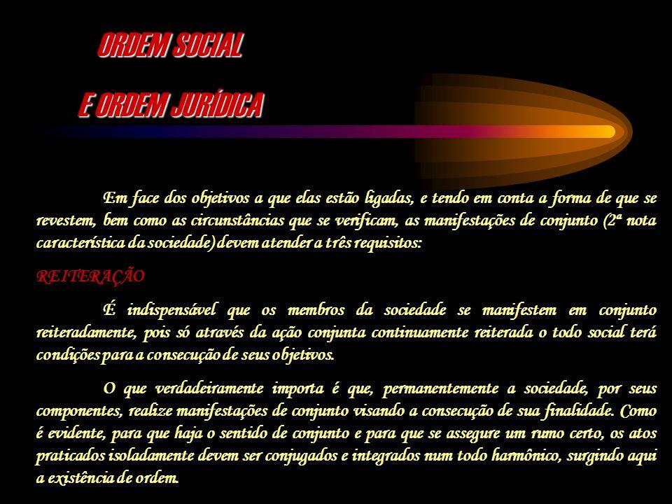 ORDEM SOCIAL E ORDEM JURÍDICA
