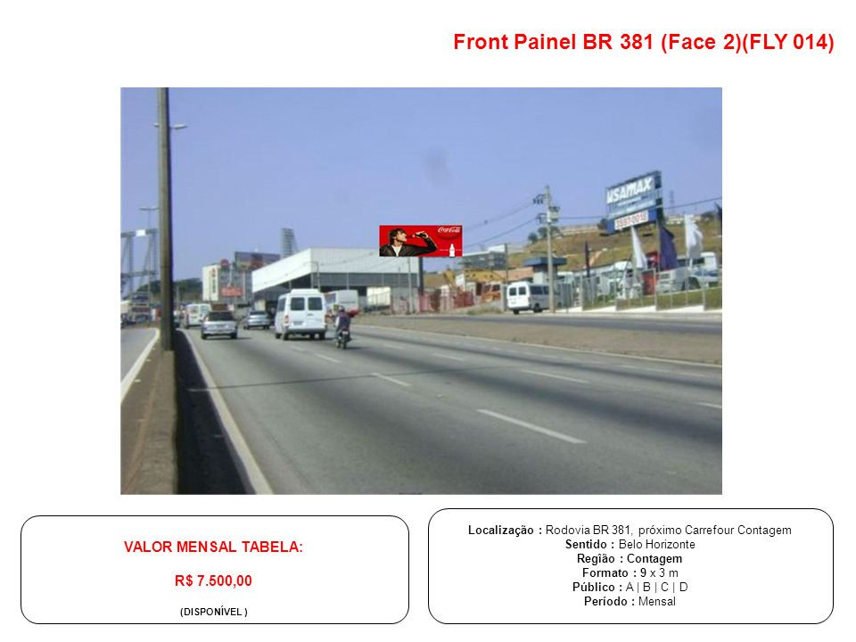 Front Painel BR 381 (Face 2)(FLY 014)