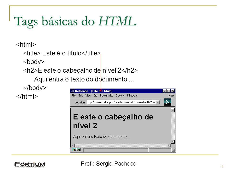 Tags básicas do HTML <html>