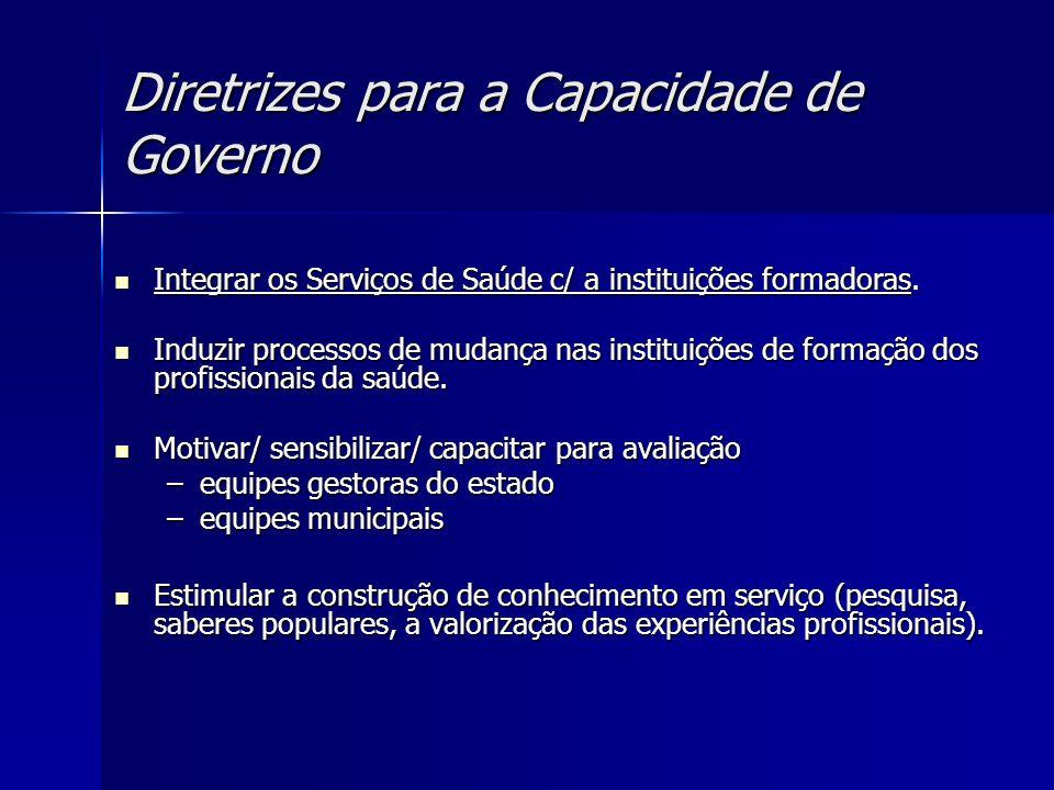 Diretrizes para a Capacidade de Governo