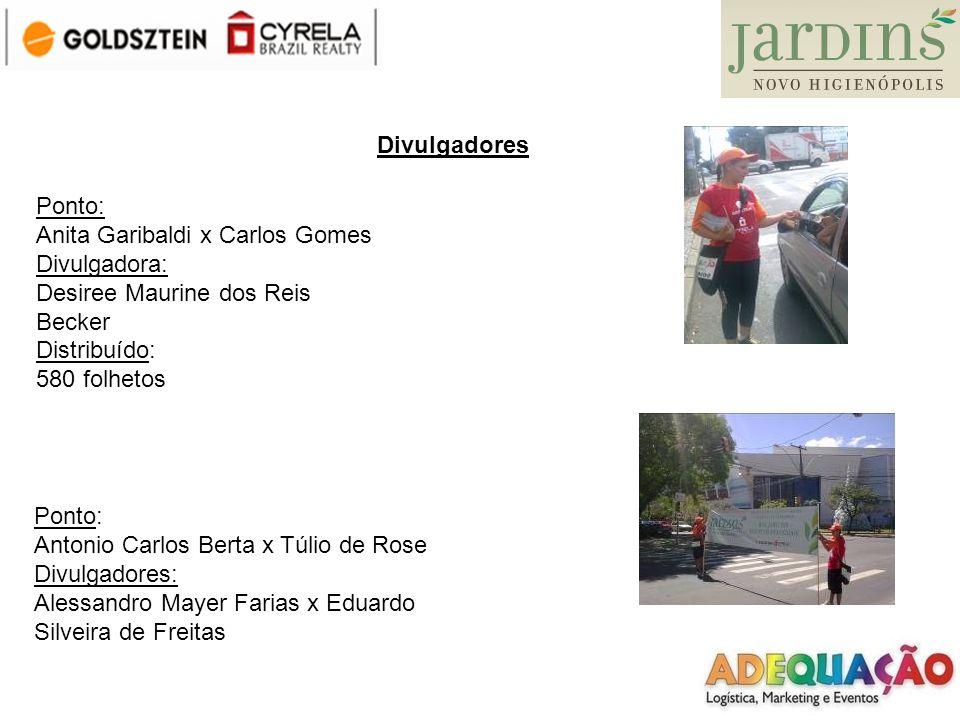 Divulgadores Ponto: Anita Garibaldi x Carlos Gomes. Divulgadora: Desiree Maurine dos Reis Becker.