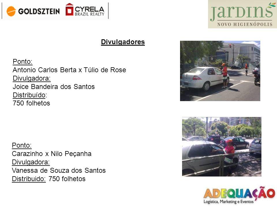Divulgadores Ponto: Antonio Carlos Berta x Túlio de Rose. Divulgadora: Joice Bandeira dos Santos.