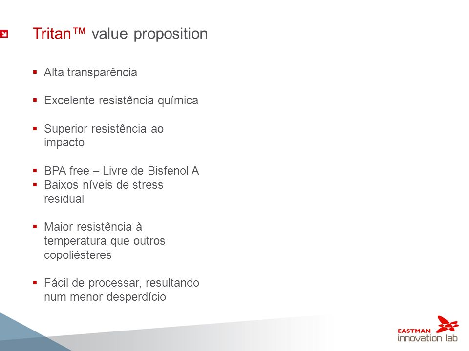 Tritan™ value proposition