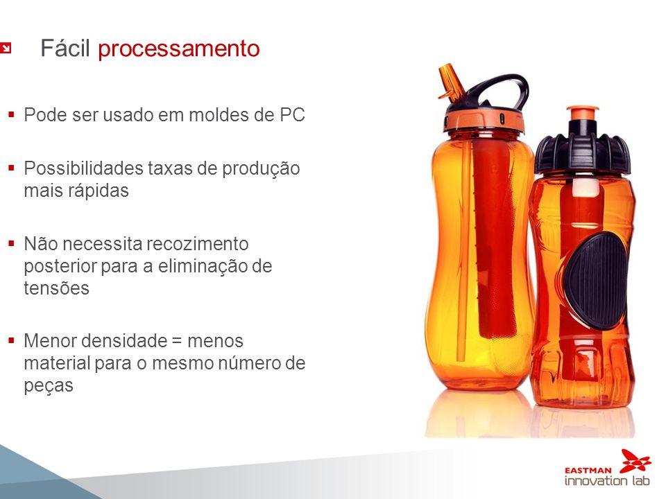 Fácil processamento Pode ser usado em moldes de PC