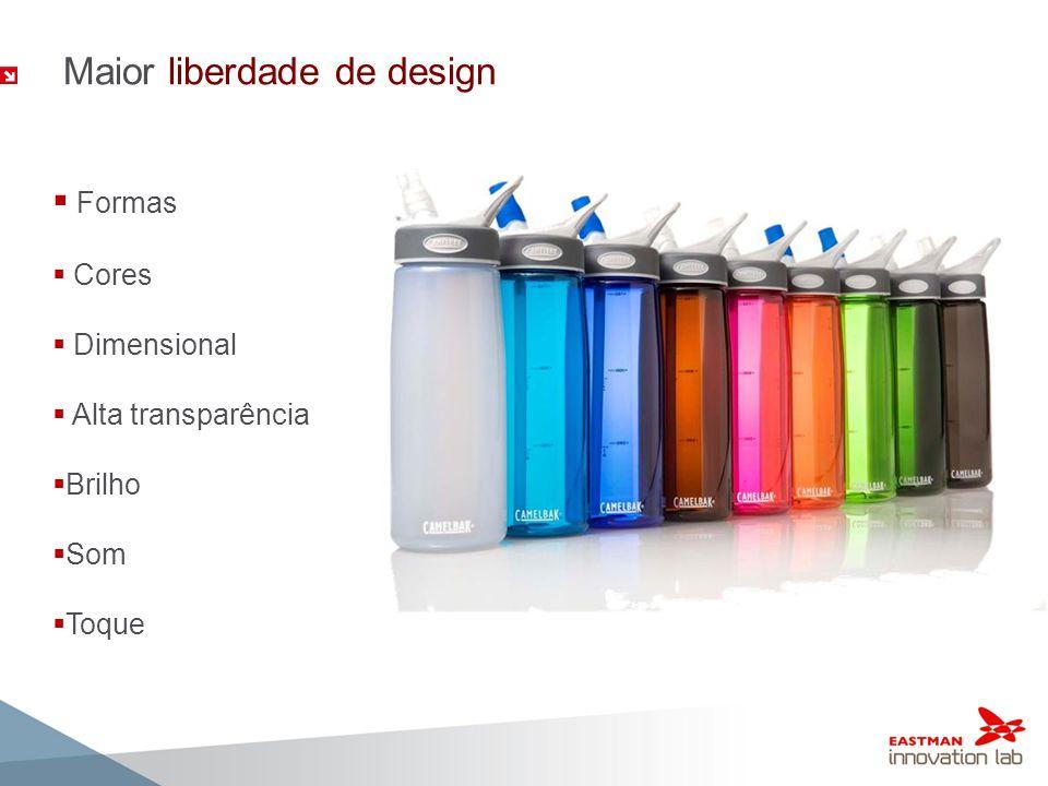 Maior liberdade de design