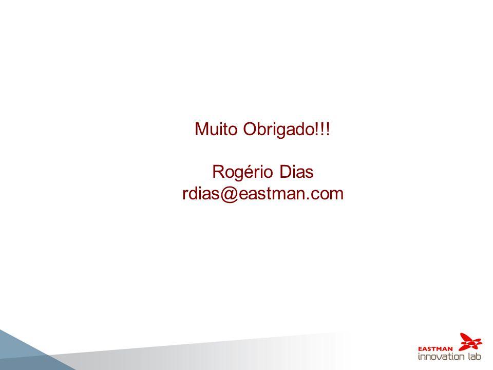 Muito Obrigado!!! Rogério Dias rdias@eastman.com 38