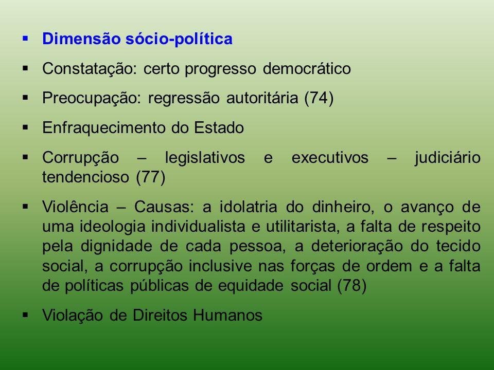 Dimensão sócio-política