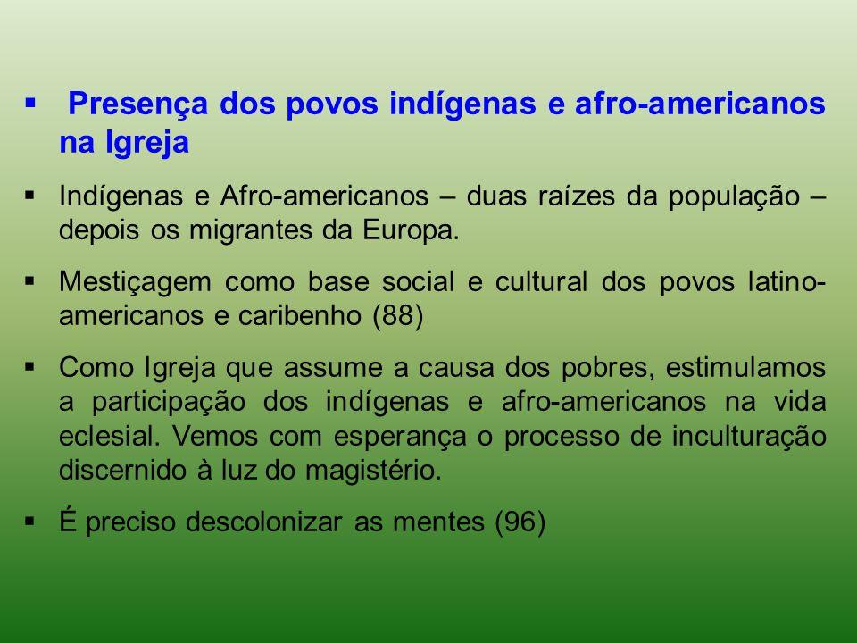Presença dos povos indígenas e afro-americanos na Igreja