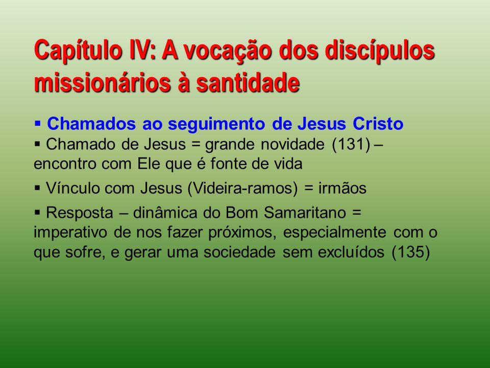 Capítulo IV: A vocação dos discípulos missionários à santidade