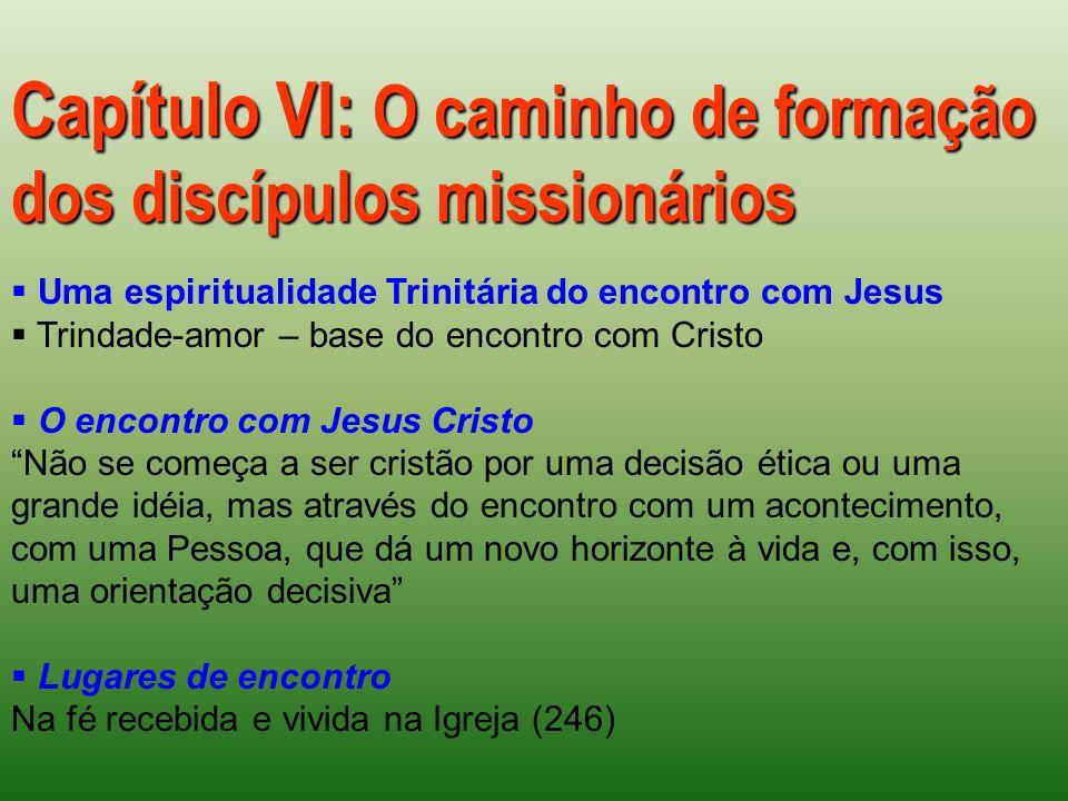 Capítulo VI: O caminho de formação dos discípulos missionários