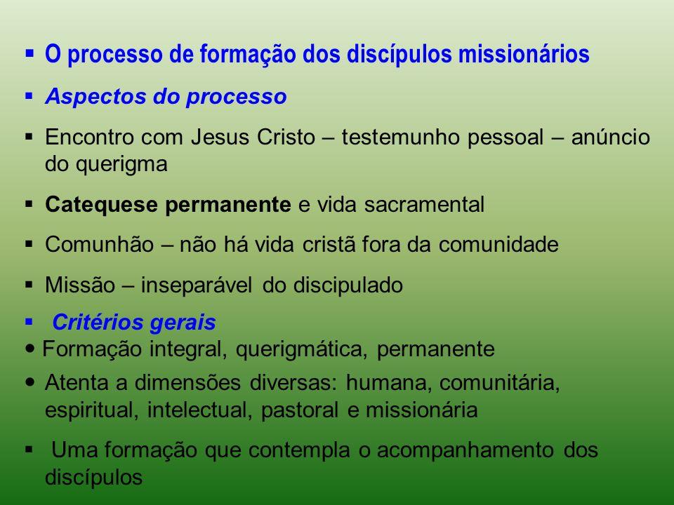 O processo de formação dos discípulos missionários