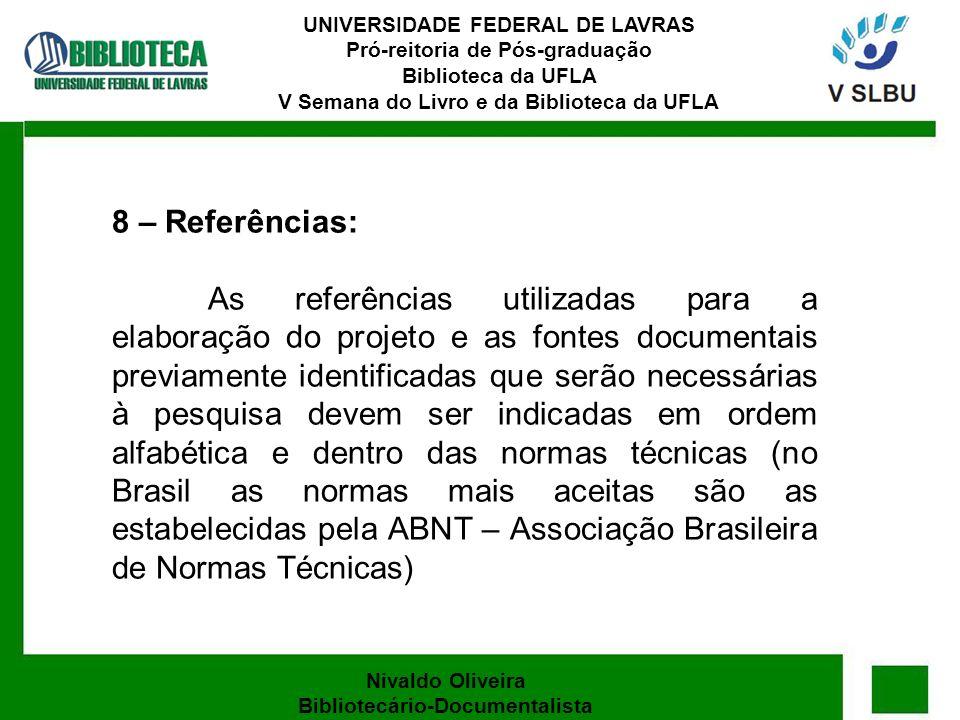 Nivaldo Oliveira Bibliotecário-Documentalista