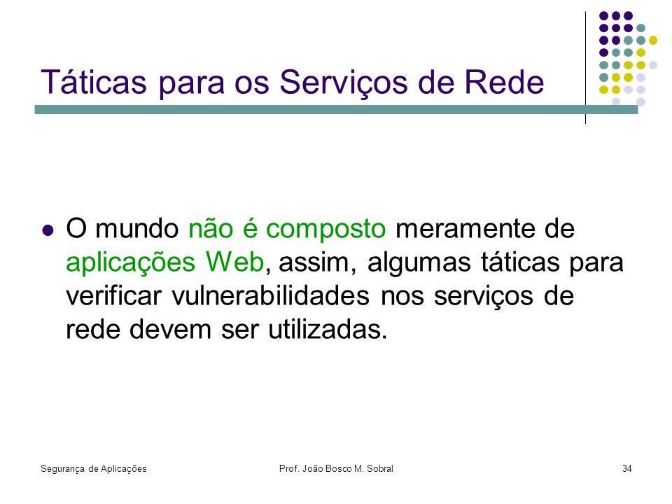 Táticas para os Serviços de Rede
