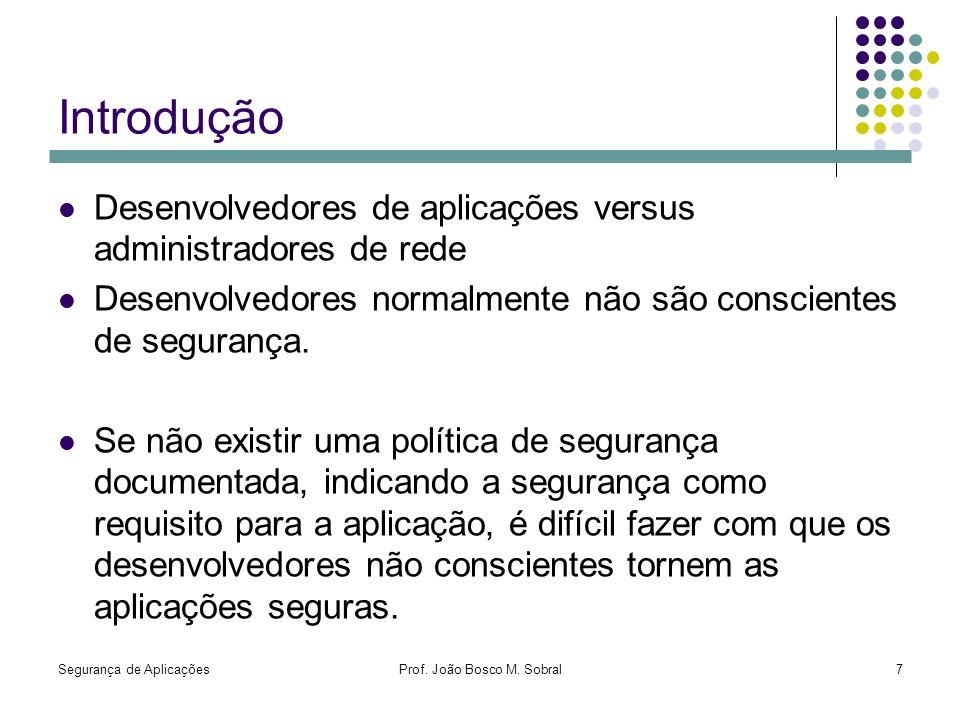 Prof. João Bosco M. Sobral