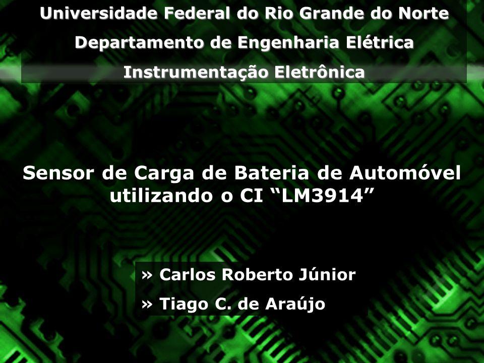 Sensor de Carga de Bateria de Automóvel utilizando o CI LM3914