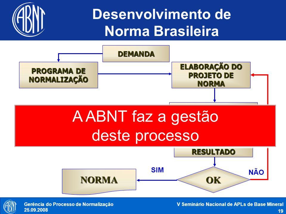 Desenvolvimento de Norma Brasileira