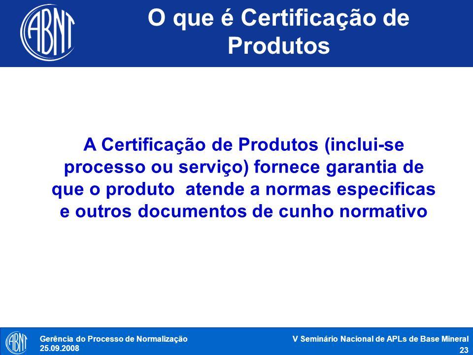 O que é Certificação de Produtos