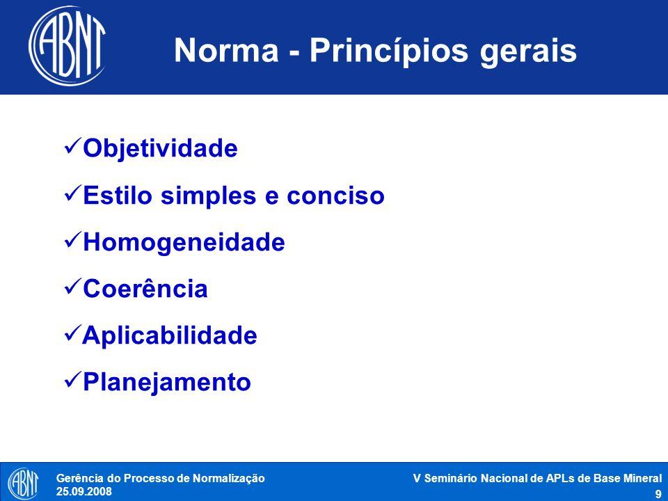 Norma - Princípios gerais