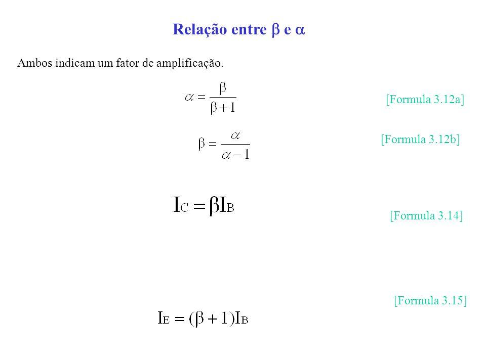Relação entre  e  Ambos indicam um fator de amplificação.
