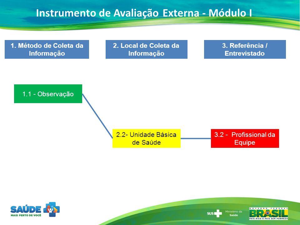 Instrumento de Avaliação Externa - Módulo I