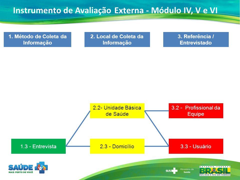 Instrumento de Avaliação Externa - Módulo IV, V e VI
