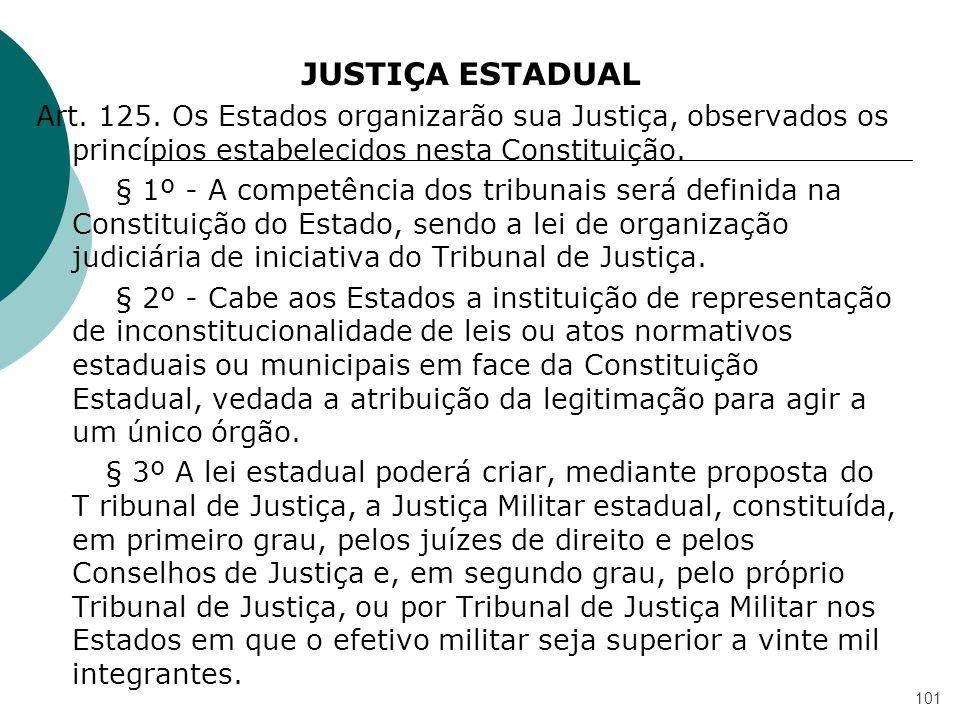 JUSTIÇA ESTADUAL Art. 125.