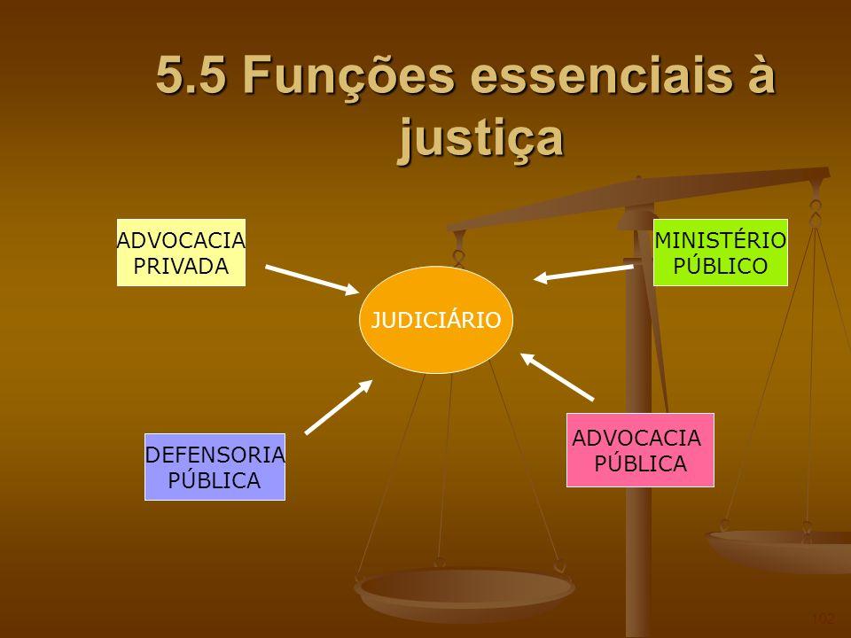 5.5 Funções essenciais à justiça