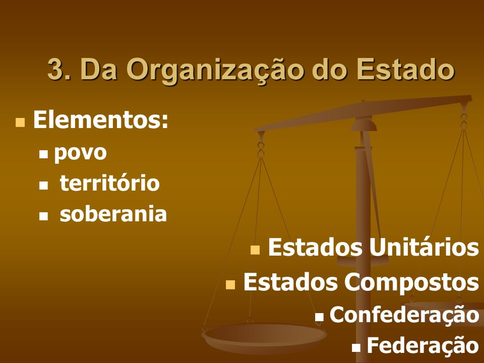 3. Da Organização do Estado