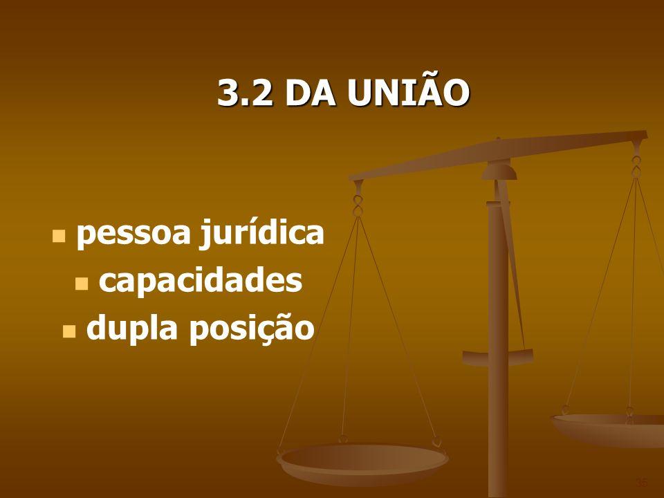 3.2 DA UNIÃO pessoa jurídica capacidades dupla posição