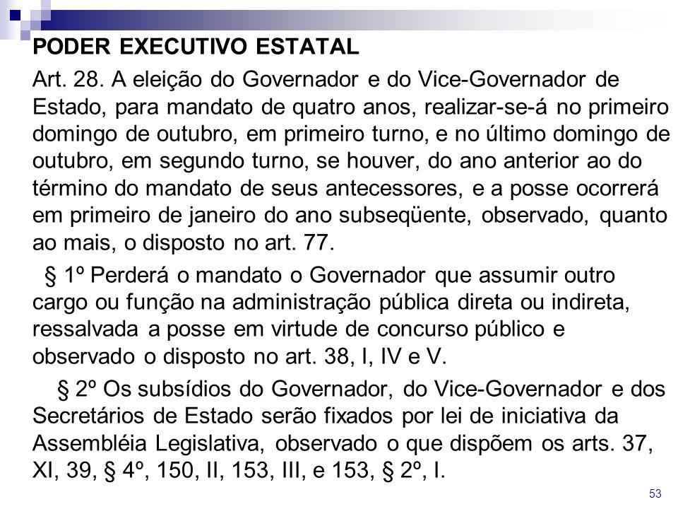 PODER EXECUTIVO ESTATAL Art. 28