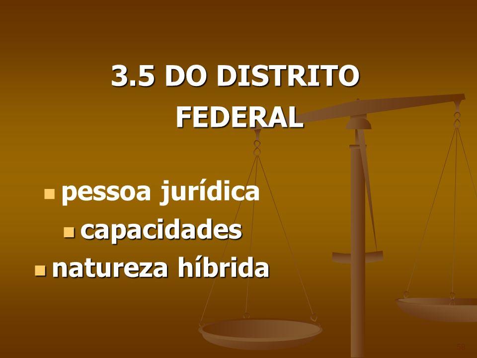 3.5 DO DISTRITO FEDERAL pessoa jurídica capacidades natureza híbrida