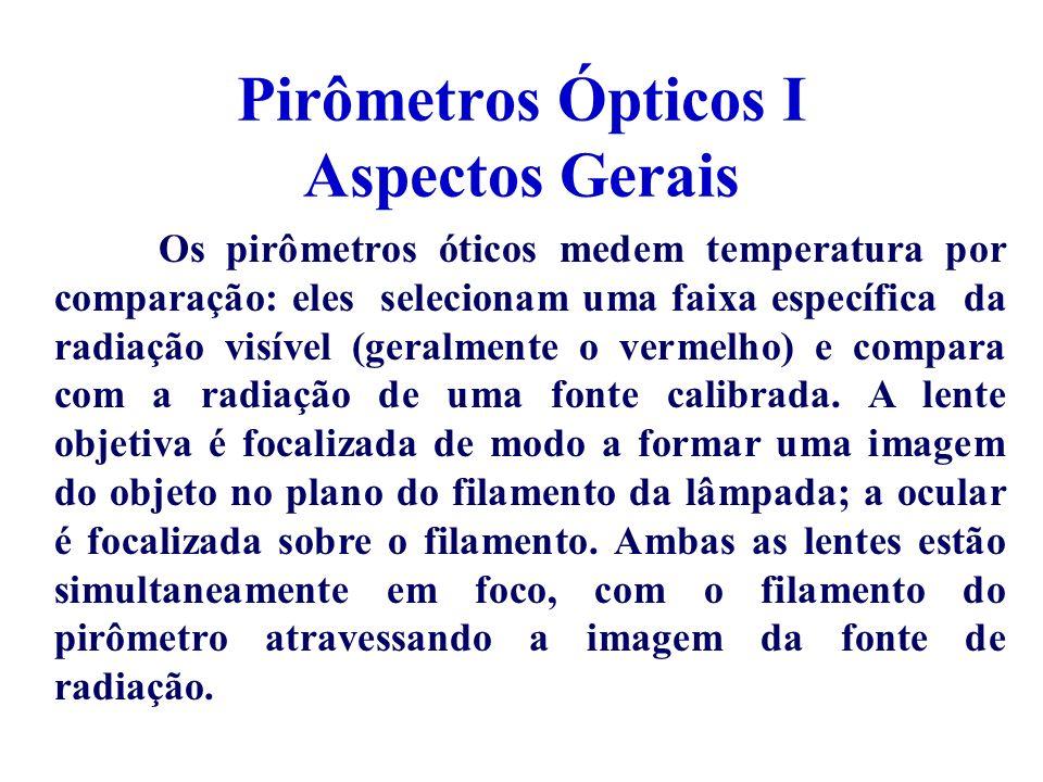 Pirômetros Ópticos I Aspectos Gerais