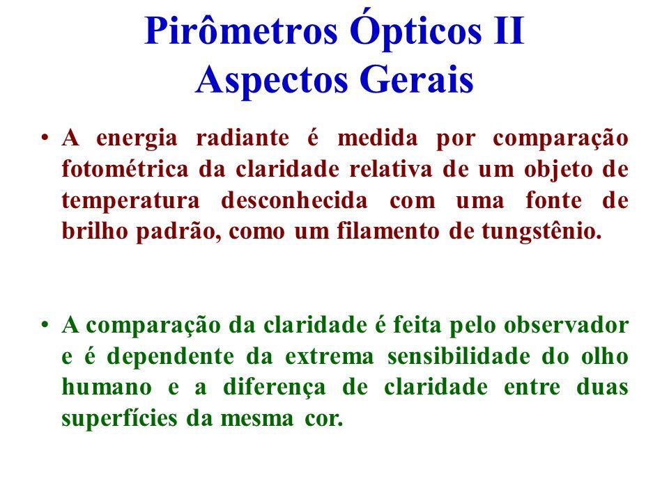 Pirômetros Ópticos II Aspectos Gerais