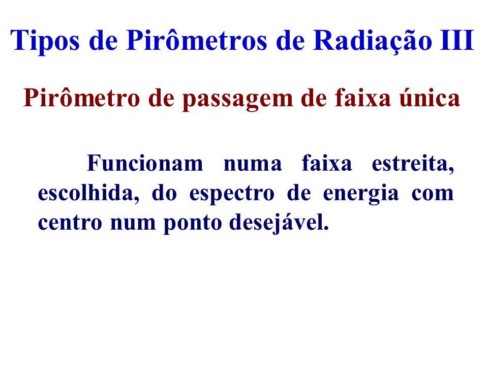 Tipos de Pirômetros de Radiação III
