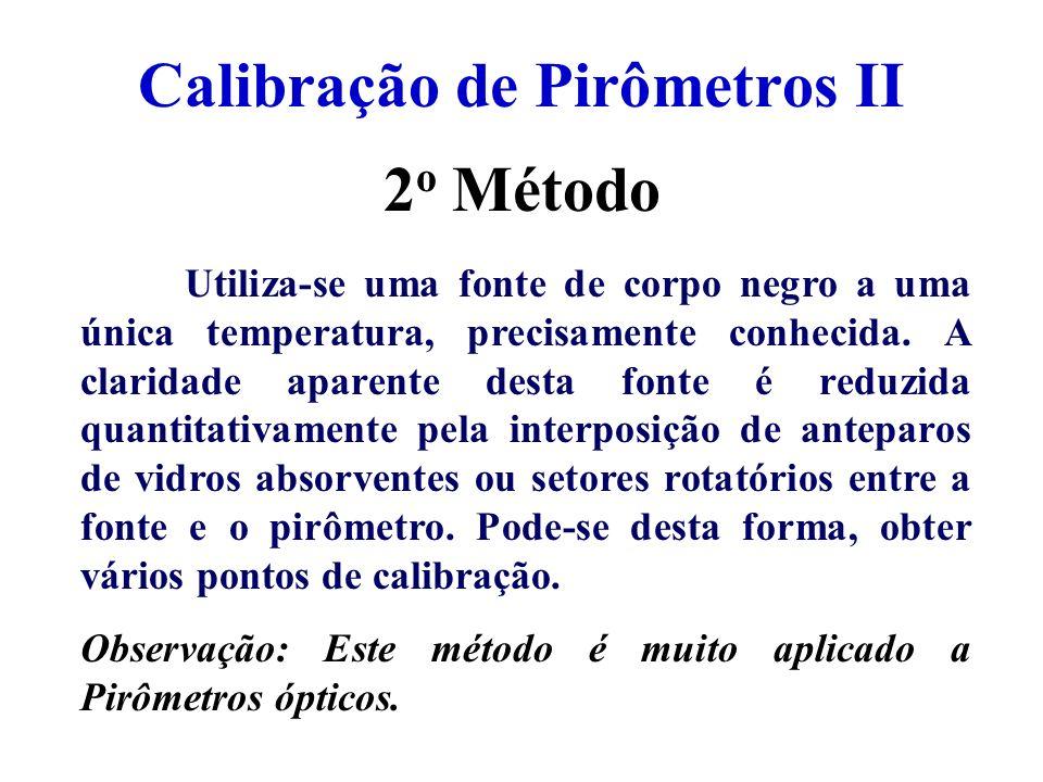 Calibração de Pirômetros II