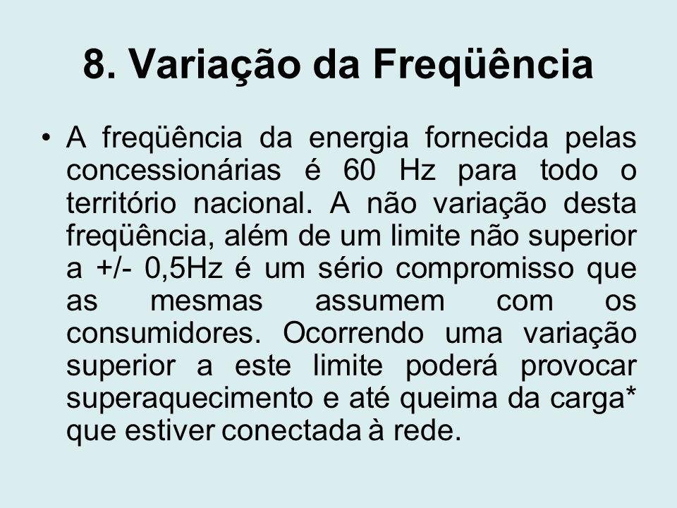 8. Variação da Freqüência