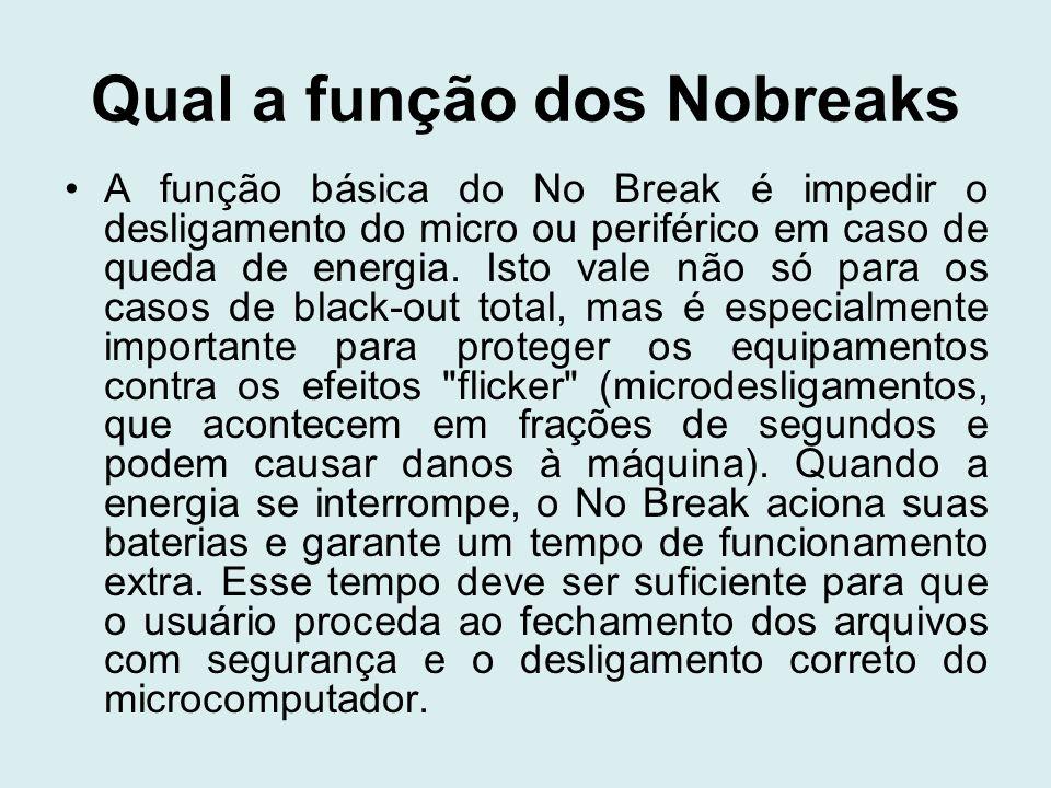 Qual a função dos Nobreaks