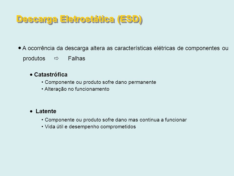 Descarga Eletrostática (ESD)