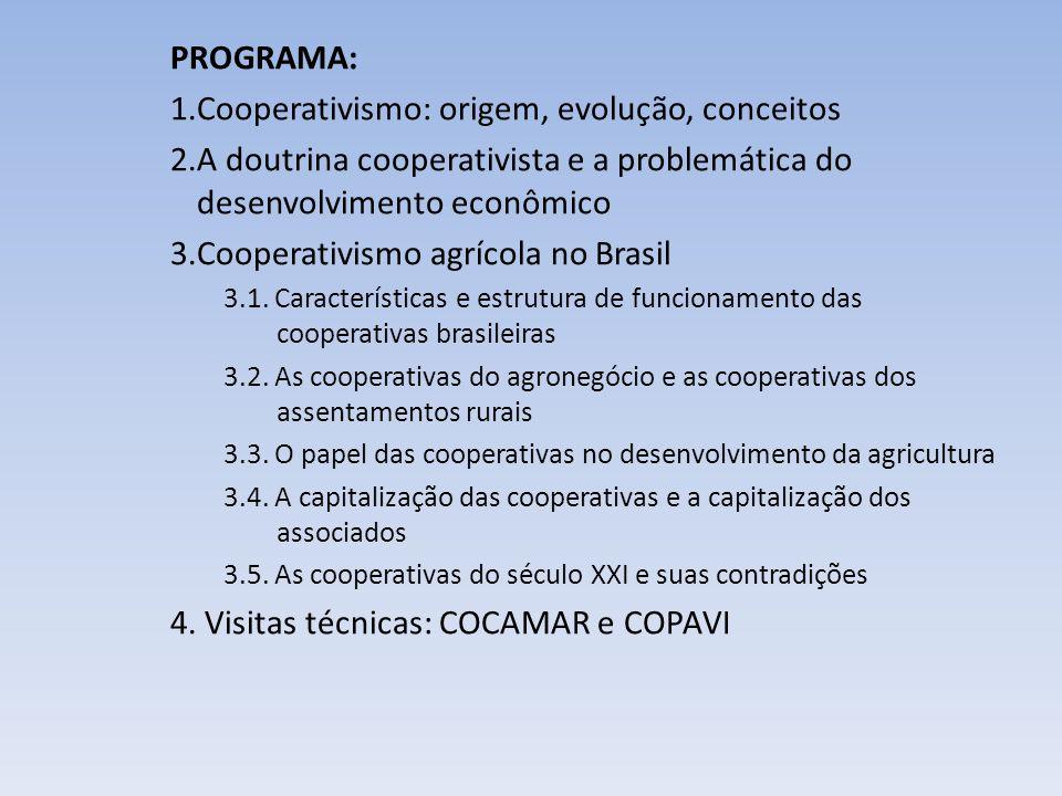 Cooperativismo: origem, evolução, conceitos