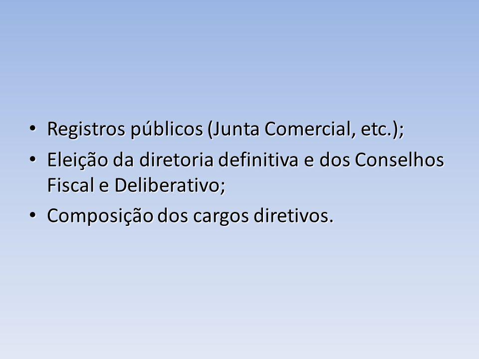 Registros públicos (Junta Comercial, etc.);