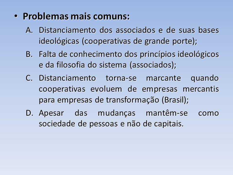 Problemas mais comuns: