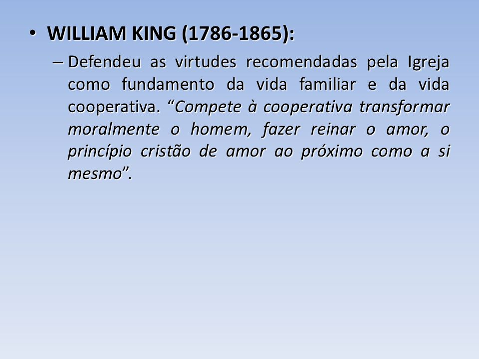 WILLIAM KING (1786-1865):