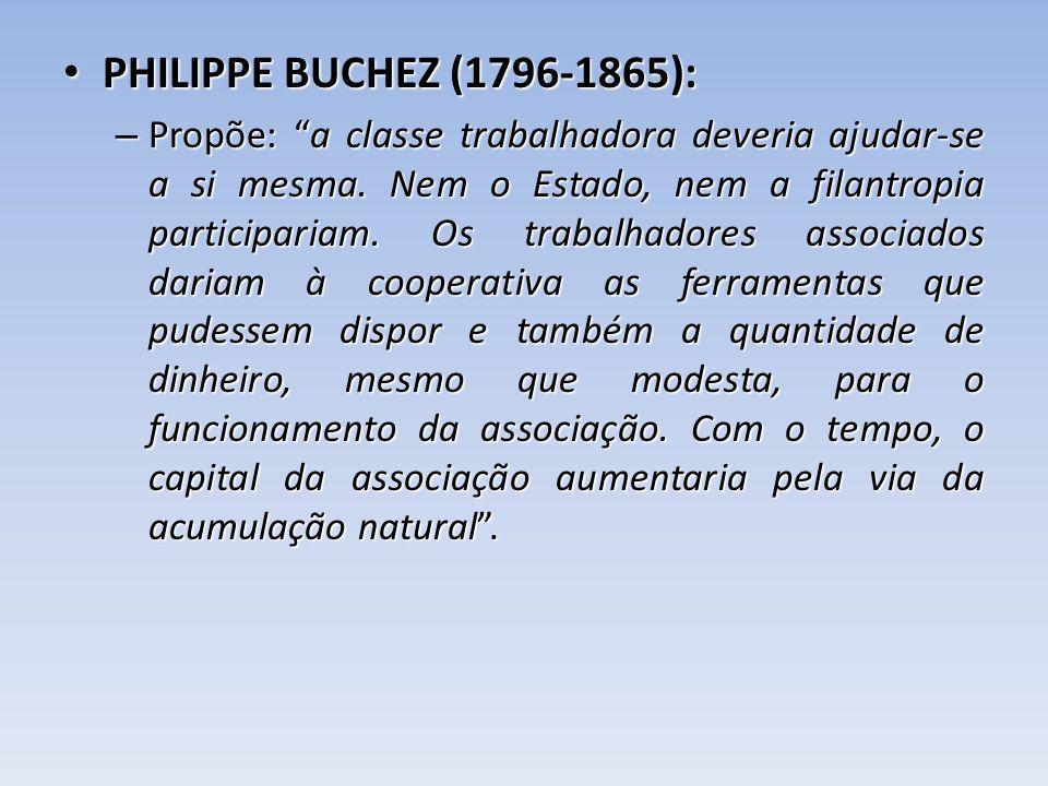 PHILIPPE BUCHEZ (1796-1865):