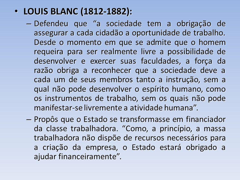 LOUIS BLANC (1812-1882):
