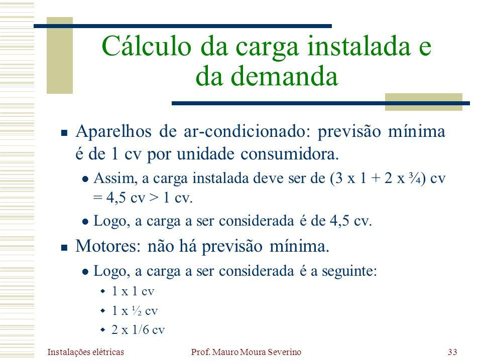 Cálculo da carga instalada e da demanda