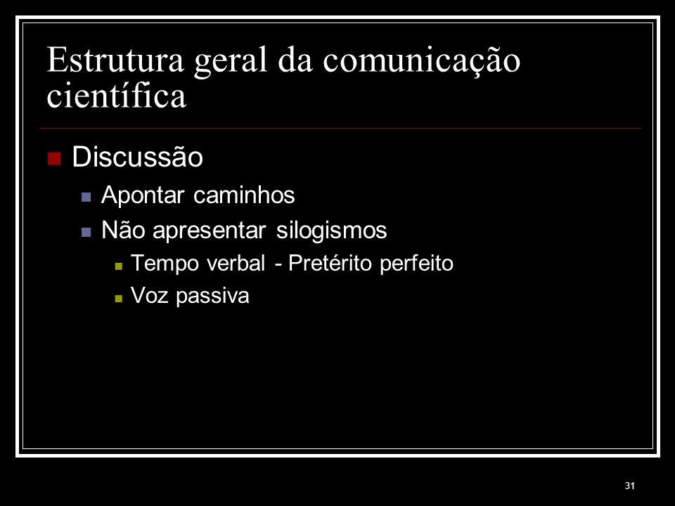 Estrutura geral da comunicação científica