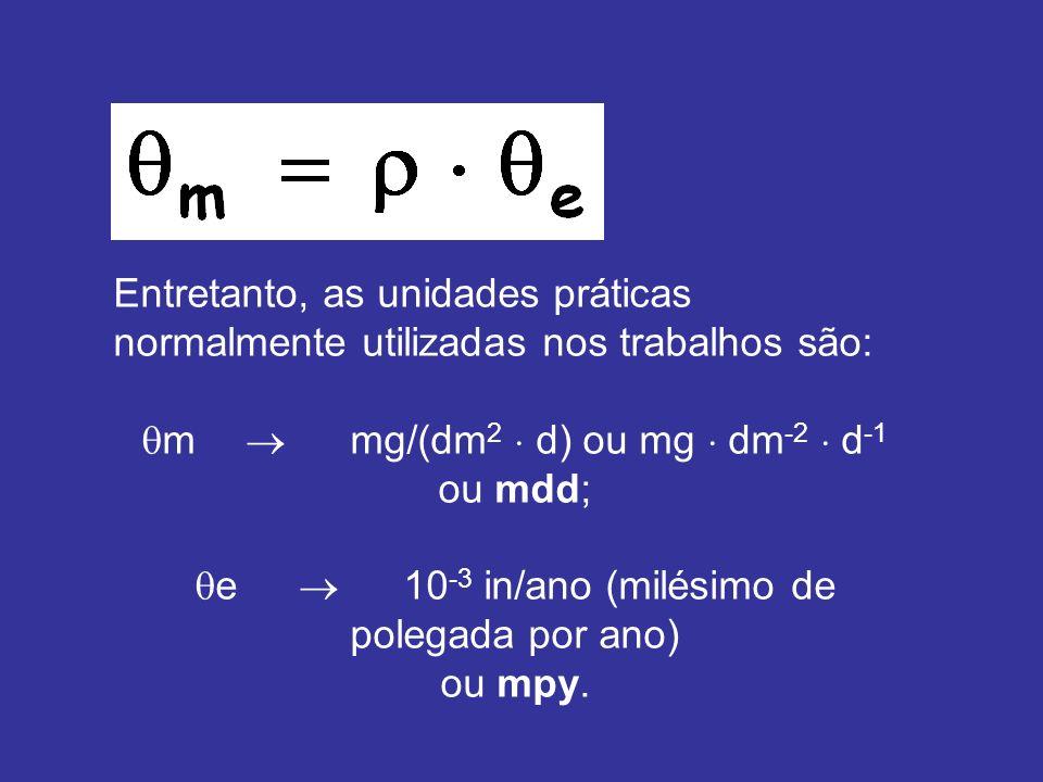 m  mg/(dm2  d) ou mg  dm-2  d-1 ou mdd;