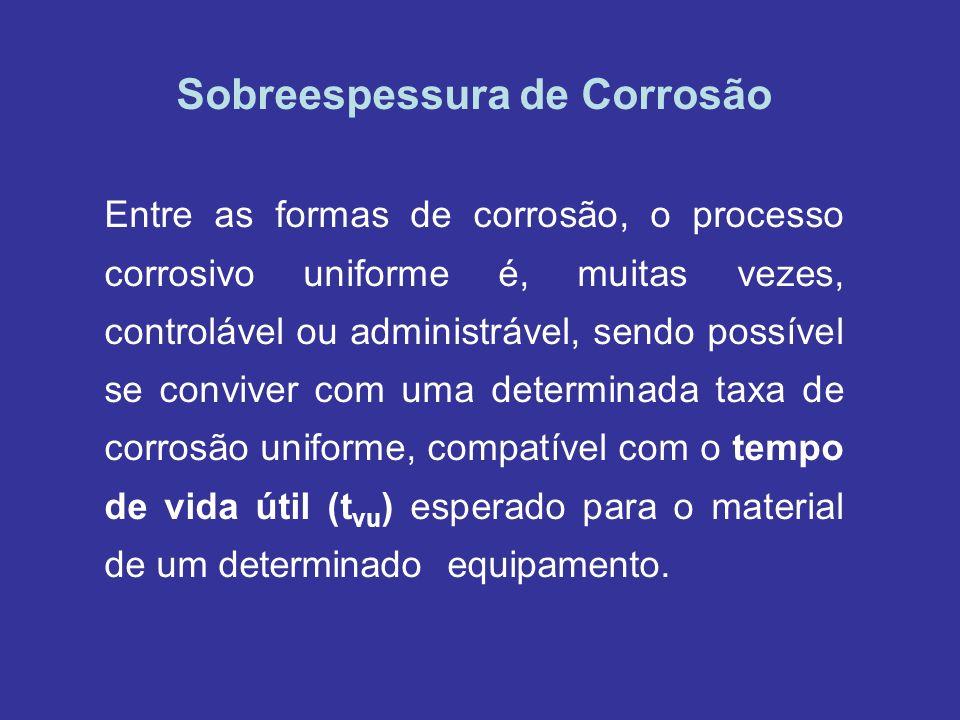 Sobreespessura de Corrosão