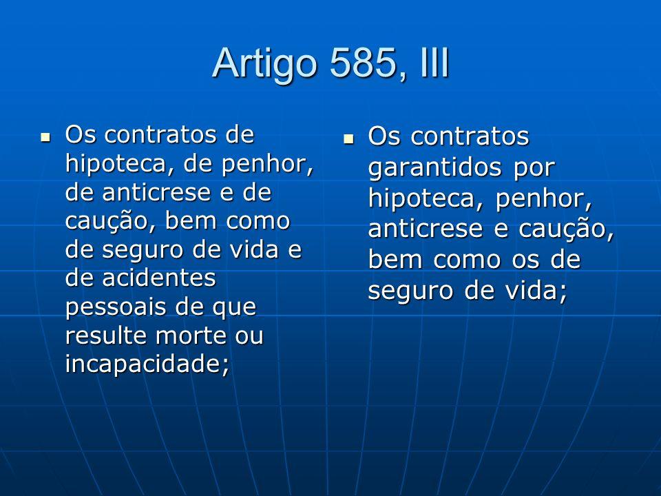 Artigo 585, III