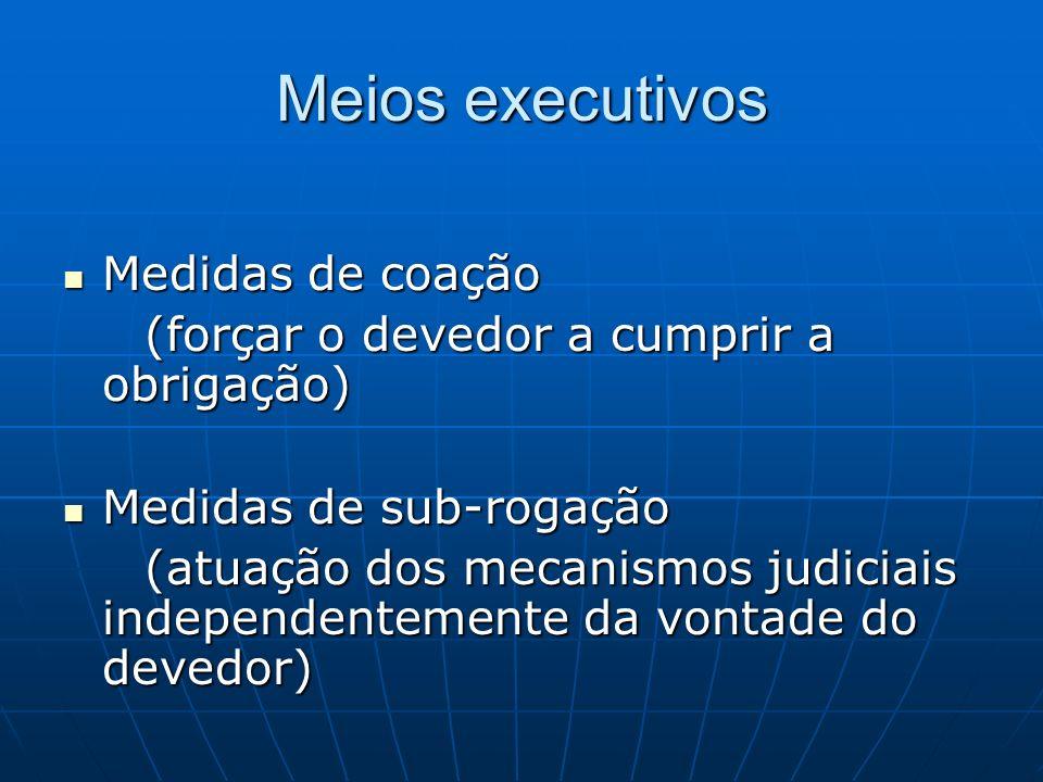 Meios executivos Medidas de coação